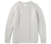 Slim-fit Cable-knit Wool And Cashmere-blend Sweater