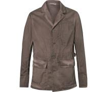 Garment-dyed Cotton Blazer