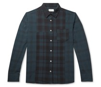 Block Panelled Checked Cotton Shirt