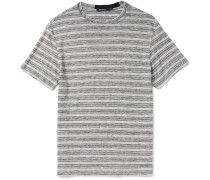 Slim-fit Striped Slub Linen-jersey T-shirt