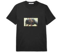 Cuban-fit Rottweiler-appliquéd Cotton-jersey T-shirt