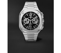 BR 05 Automatic Chronograph 42mm Stainless Steel Watch, Ref. No. BR05C-BL-ST/SST