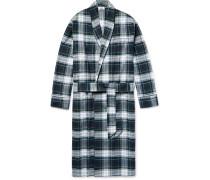 Checked Cotton-flannel Robe