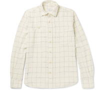 Windowpane-checked Cotton-flannel Shirt