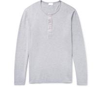Mélange Pima Cotton-jersey Henley Pyjama Shirt