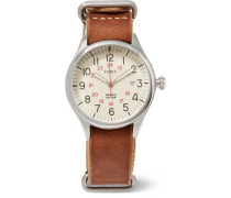 Waterbury United Stainless Steel And Leather Watch