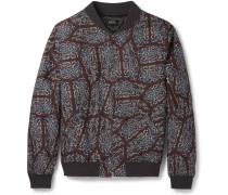 Slim-fit Paisley-print Cotton Bomber Jacket