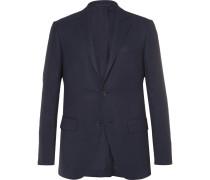 Blue Slim-fit High Performance Wool Travel Blazer