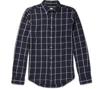 Brooklyn Slim-fit Button-down Collar Checked Cotton Shirt