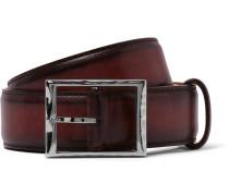 3.5cm Burgundy Classic Leather Belt