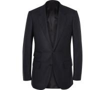 Blue Slim-fit Cashmere Blazer