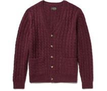 Cable-knit Mélange Wool Cardigan
