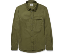 Slim-fit Cotton-blend Twill Shirt