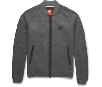 Cotton-blend Tech Fleece Varsity Jacket