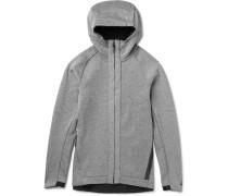 Cotton-blend Jersey Zip-up Hoodie