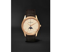 Master Ultra Thin Moon Automatic 39mm 18-Karat Rose Gold and Alligator Watch