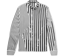 Button-down Collar Striped Silk-twill Shirt