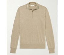 Silk and Cotton-Blend Half-Zip Sweater
