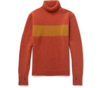 Talbot Slim-fit Striped Wool Rollneck Sweater