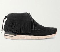 Shaman-Folk Fringed Suede High-Top Sneakers