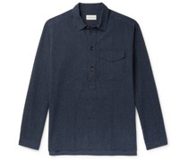 Evanson Pinstriped Cotton Half-Placket Shirt