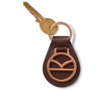 + Deakin & Francis Leather And Rose Gold-plated Key Fob