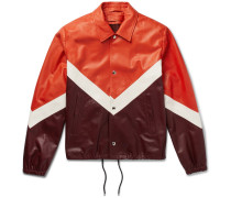 Chevron Leather Jacket