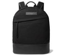 Kastrup Leather-Trimmed Shell Backpack