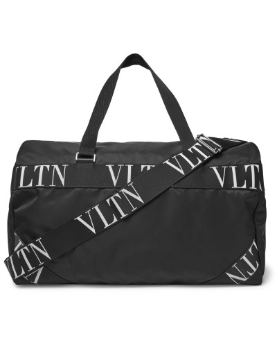Valentino Garavani Logo Webbing-Trimmed Nylon Duffle Bag