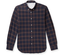 Checked Cotton-Blend Shirt