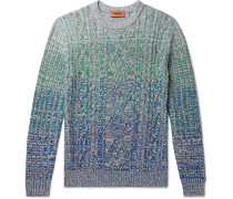 Cable-Knit Mélange Wool-Blend Sweater