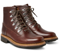 Justin Panelled Leather Boots