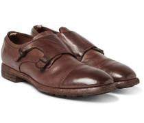 Princeton Grained-leather Monk-strap Shoes
