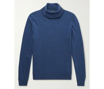 Slim-Fit Virgin Wool and Cashmere-Blend Rollneck Sweater