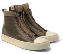 Skagway Shearling-lined Leather Sneakers
