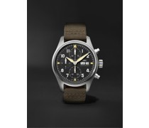 Pilot's Spitfire Automatic Chronograph 41mm Stainless Steel and Webbing Watch, Ref. No. IW387901