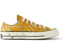 Chuck 70 OX Paint-Splattered Canvas Sneakers
