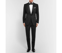 Black O'connor Slim-fit Satin-trimmed Super 110s Wool Tuxedo