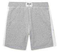 + Everlast Wide-Leg Striped Loopback Cotton-Blend Jersey Shorts
