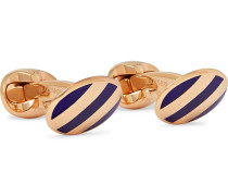 + Deakin & Francis Striped Rose Gold-Plated Cufflinks