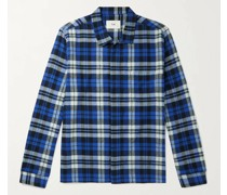 Patch Checked Cotton Shirt