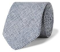 8cm Linen-Jacquard Tie