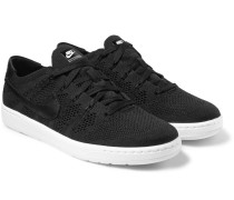 Tennis Classic Ultra Leather-trimmed Flyknit Sneakers