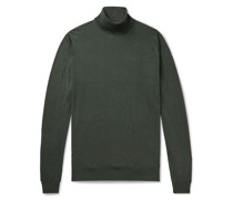 Cherwell Wool and Cotton-Blend Rollneck Sweater