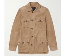 Slim-Fit Suede Field Jacket