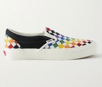 UA Classic VLT LX Nubuck and Woven Leather Slip-On Sneakers