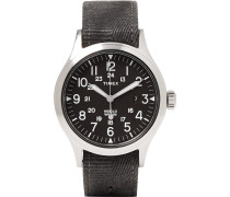 Archive Scout Brook Stainless Steel And Stonewashed Webbing Watch