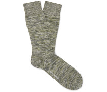 Miller Mélange Stretch Cotton-Blend Socks