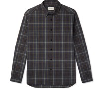 Aldred Checked Brushed Cotton-Flannel Shirt