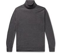 Mélange Virgin Wool Rollneck Sweater